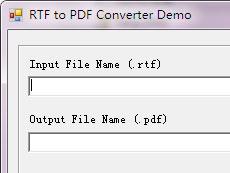 RTF to PDF Converter