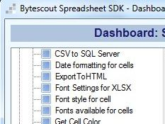 Spreadsheet SDK