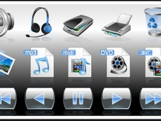 Ribbon Bar Icons Multimedia Edition