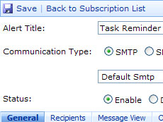 SharePoint Alerts and Reminders Web Part