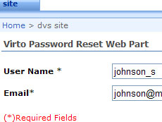 SharePoint Password Reset and Recovery Web Part