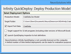 NeuroSolutions Infinity QuickDeploy