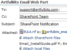 Email Web Part授权购买