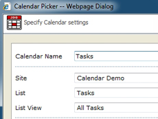 Professional Calendar Web Part