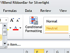 VIBlend Ribbon Bar for Silverlight