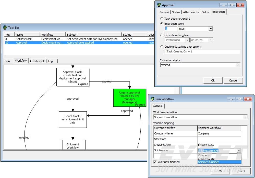 work flow screenshot
